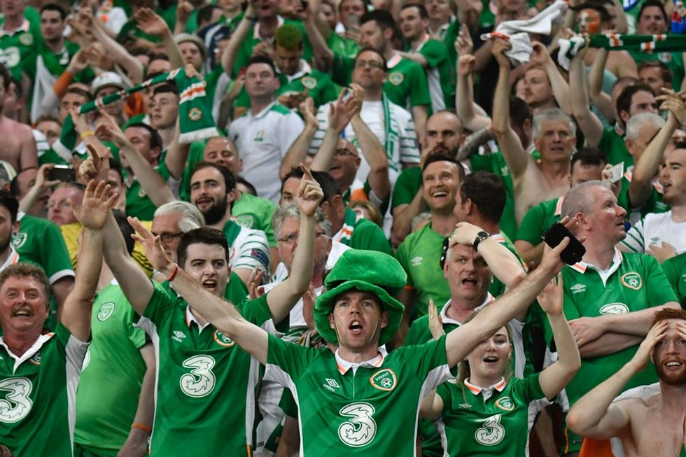 These Irish soccer fans stormed the streets of France ... and cleaned them up.