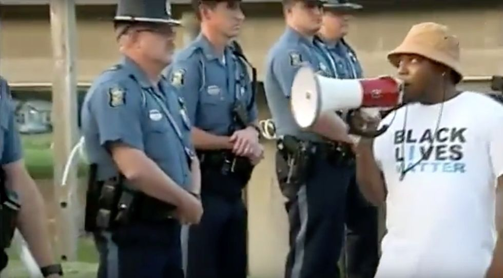 After a protest, Wichita police fired up the grill for a community cookout.