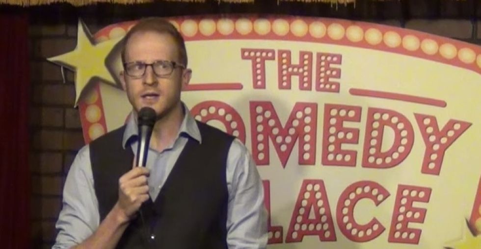 A comedian shuts down a sexist heckler who, ironically, brought his daughters to the show.