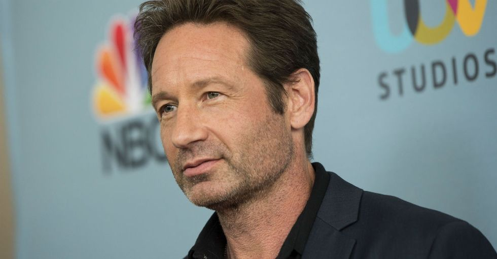 The reason David Duchovny let his rescue pup lick his face is awesome.
