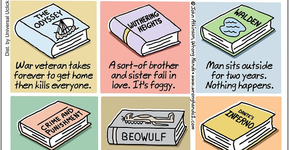 Hilarious summaries of classic novels? There's a comic for that.