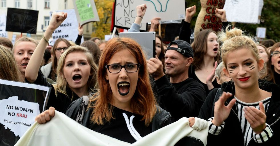 10 badass pics from Poland's massive protest in support of abortion rights.