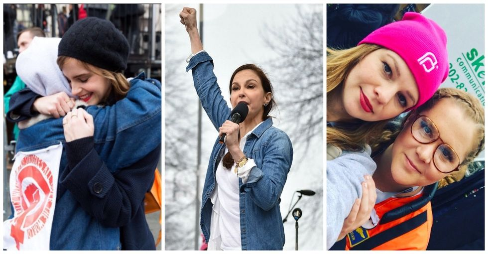 27 celebrities who proudly marched with fellow activists in the Women's March.