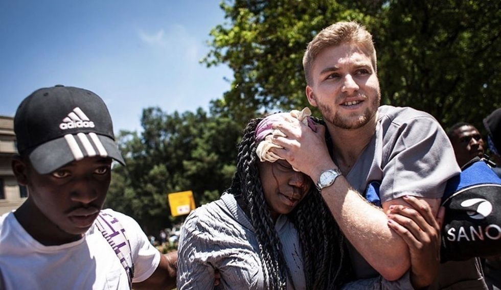 Powerful photos from a South African university riot.
