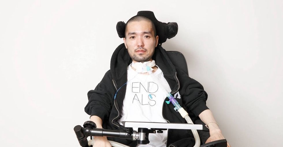 He has ALS. He can no longer speak. And he needs you to listen to him talk about it.
