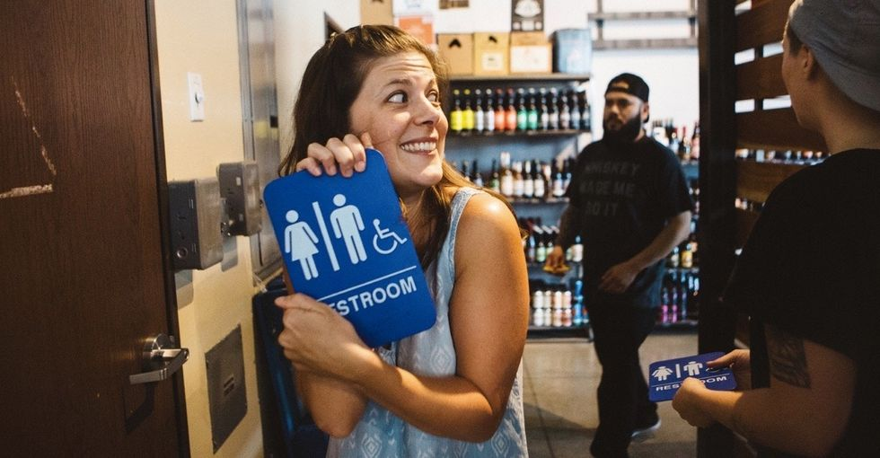 One woman's clever plan to revolutionize single-stall bathrooms.