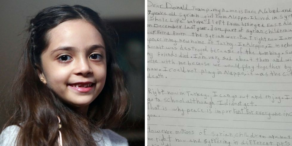 Will Trump respond to this 7-year-old refugee's plea for help?