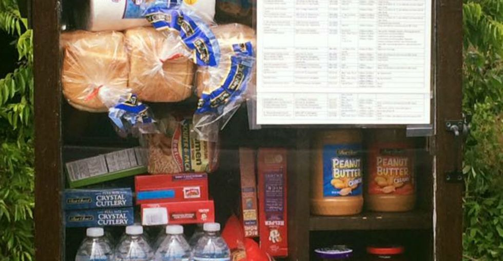 The newest fad in people helping people: Little Free Pantries.