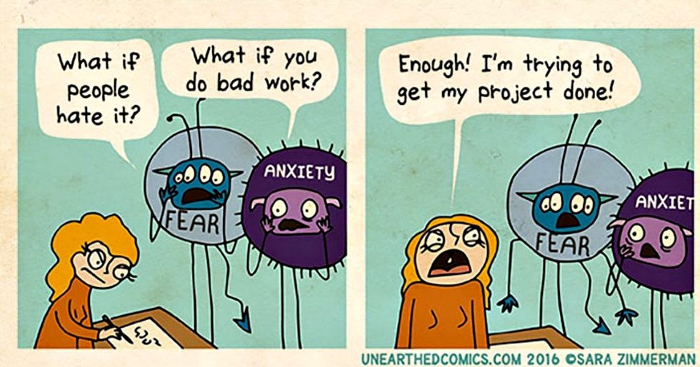 Anxiety affects everyone differently. These comics offer some great coping tips.