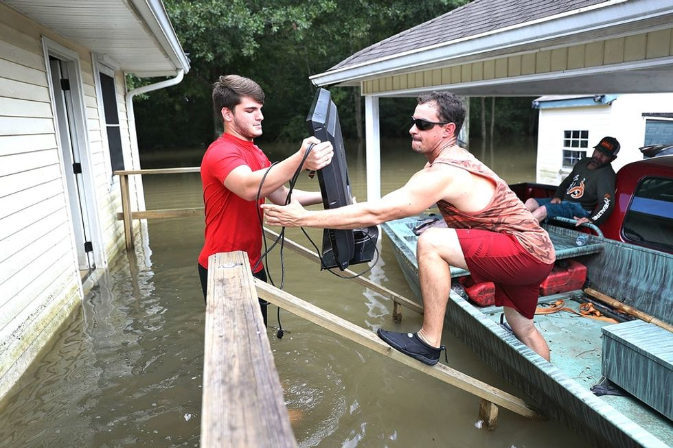 How young Republicans and Democrats are coming together to help Louisiana flood victims.