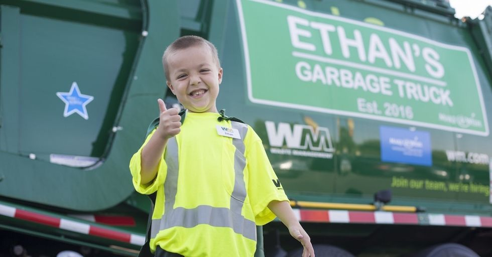 A little boy had a unique request for Make-A-Wish: to be a garbage man.