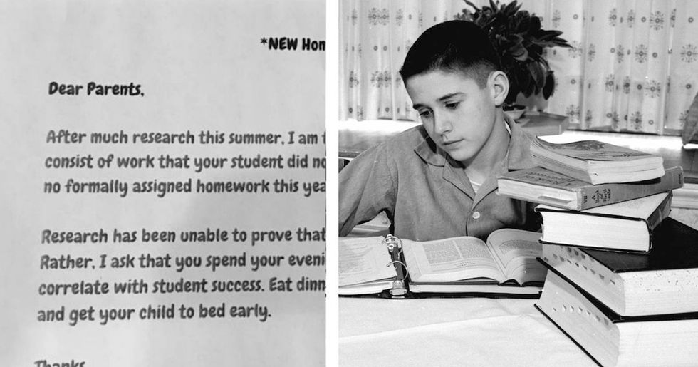 A second-grade teacher's unique homework policy is going viral.