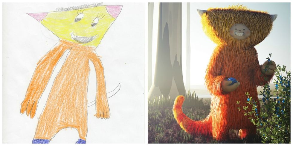 15 re-imagined kids' monster drawings that will make you shriek with joy.