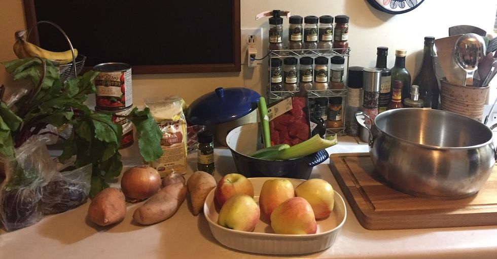 It's not garbage if you eat it. How I made a gourmet meal with food scraps.