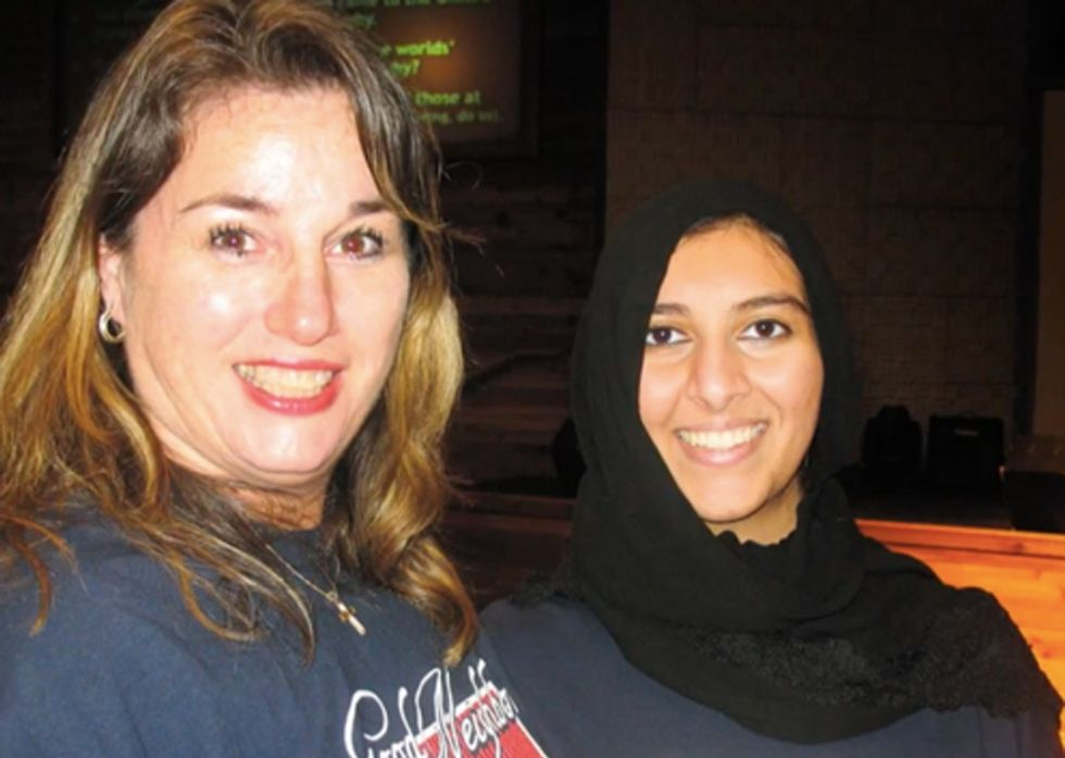 What happens when a Muslim center opens up across from a Christian church? Community.