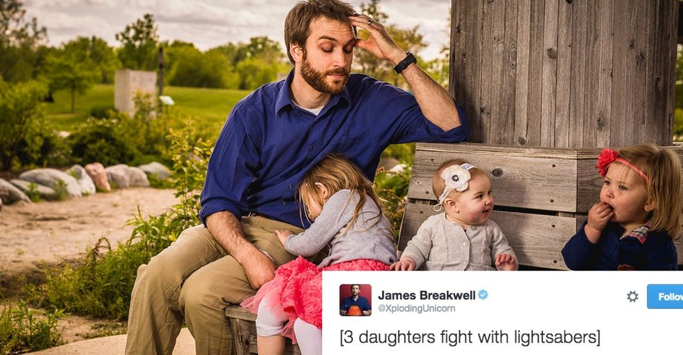 Behind the scenes with a dad who gained internet fame tweeting about his 4 daughters.