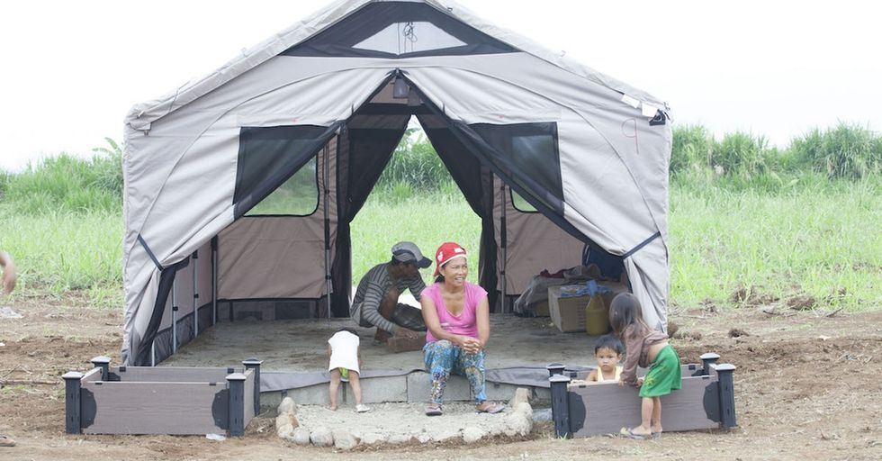 Barebones makes the tents of the future, and they're giving them to people in need.