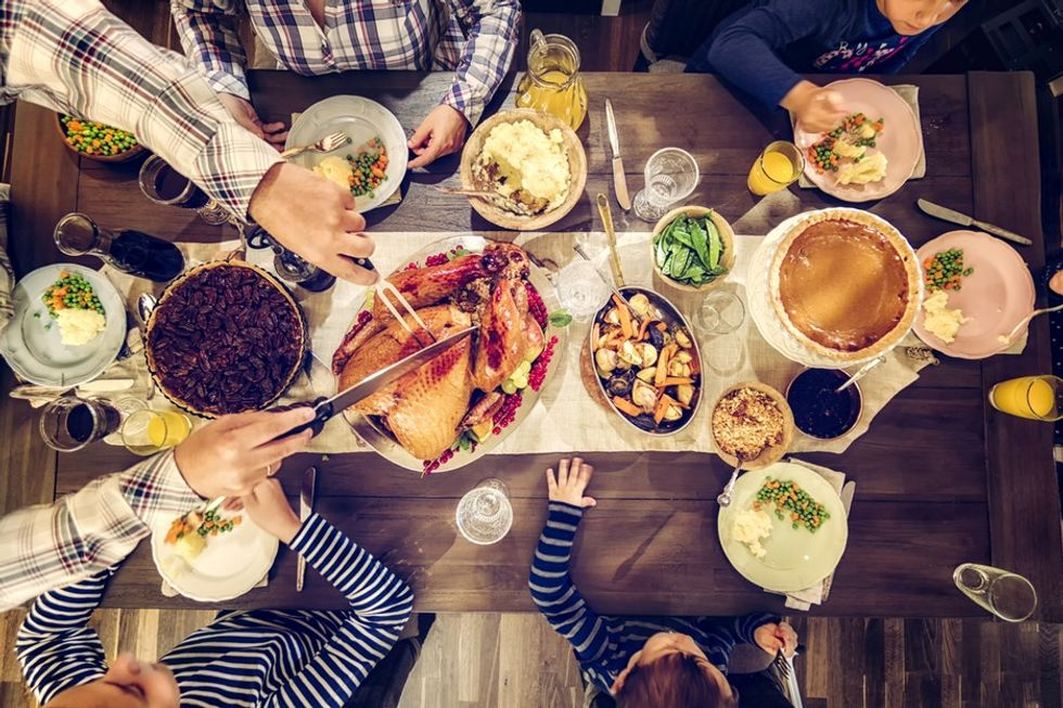 25 helpful and hilarious tips for surviving a stressful post-election Thanksgiving.