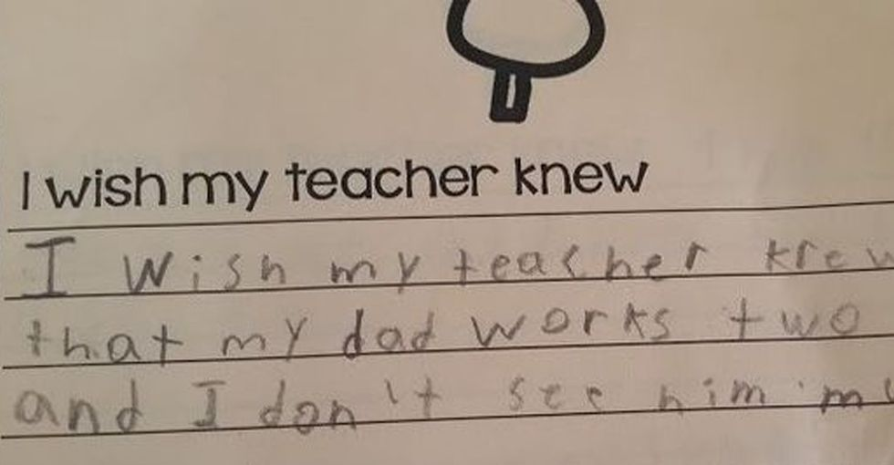 9 handwritten notes from students to their teachers that are just heartbreaking