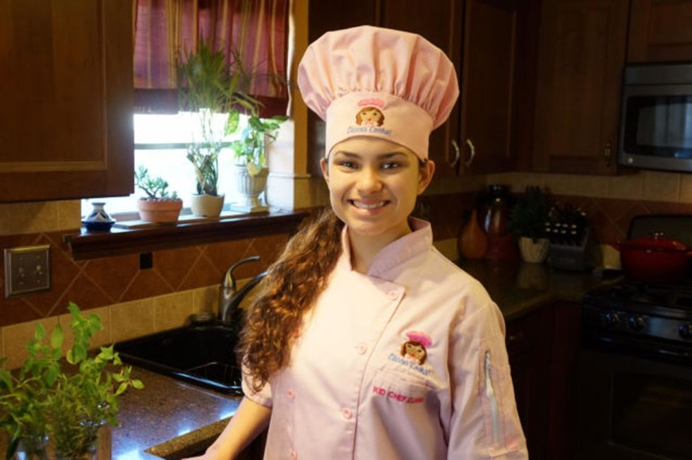 Kid Chef Eliana got her first set of knives at 8. Now 16, she's building a cooking empire.