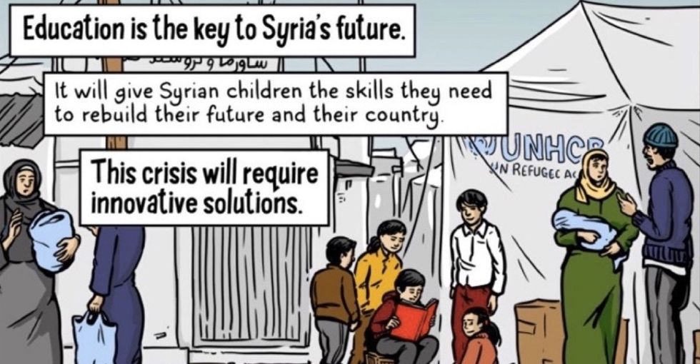 A heartbreaking illustration reveals why education in Syria is more important than ever.