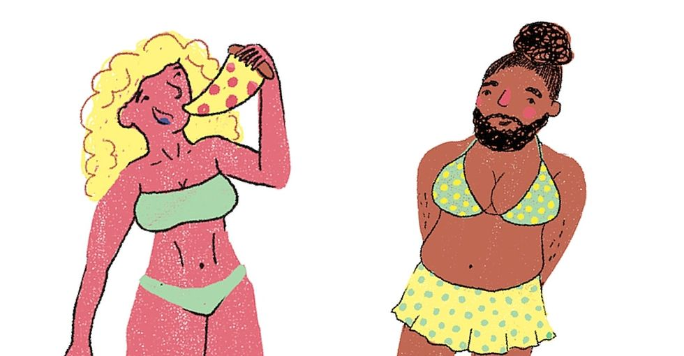 14 beach body cartoons that are just the right amount of real.