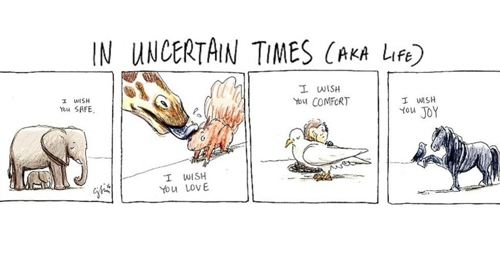 11 funny and poignant comics about being there for each other in times of trouble.