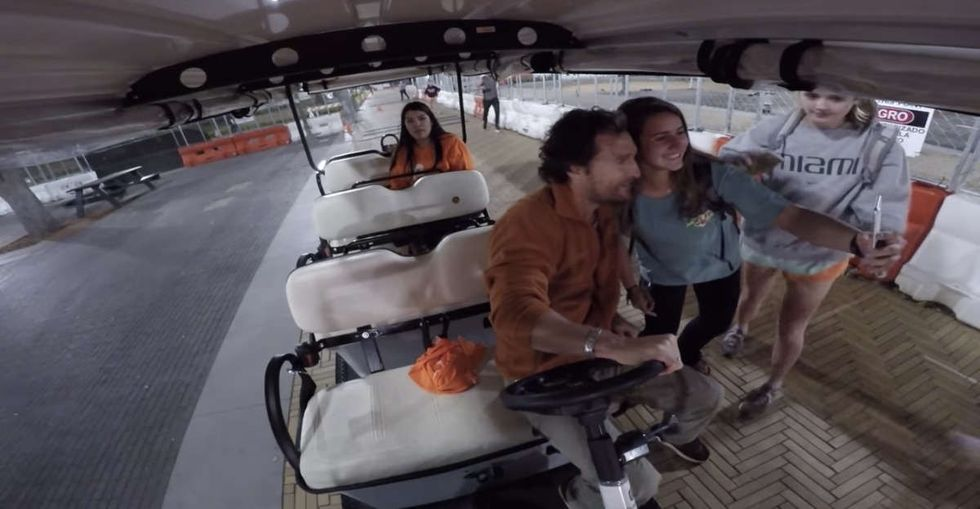 Matthew McConaughey surprised University of Texas students looking for a safe ride home.