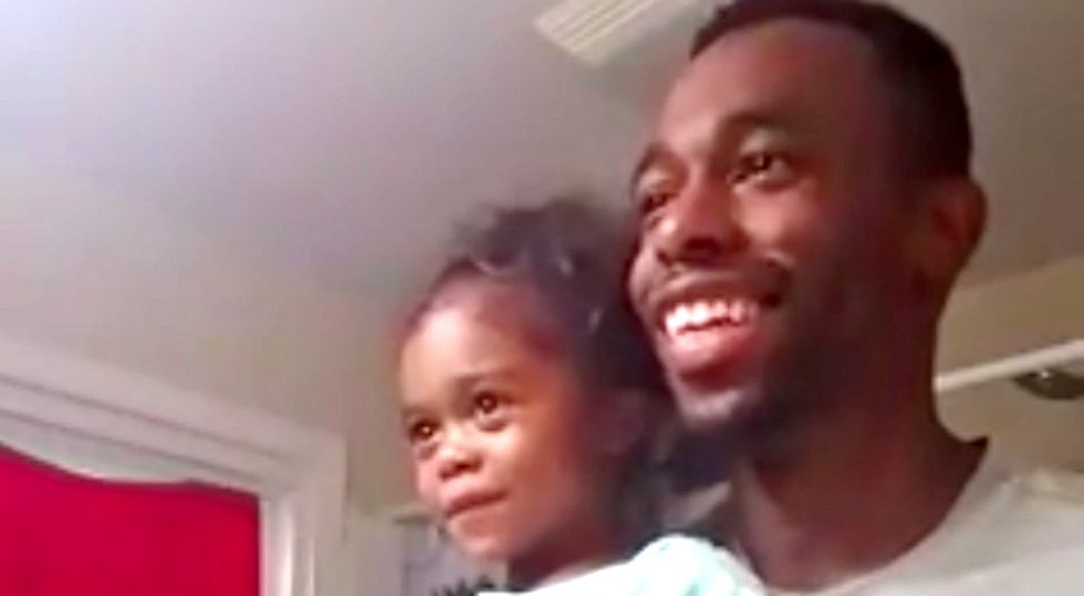 This dad is teaching his daughter to love herself and others with a morning mantra.