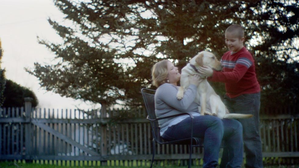 Guide dogs help serve as their owners' eyes, but a video shows it's much more than that.