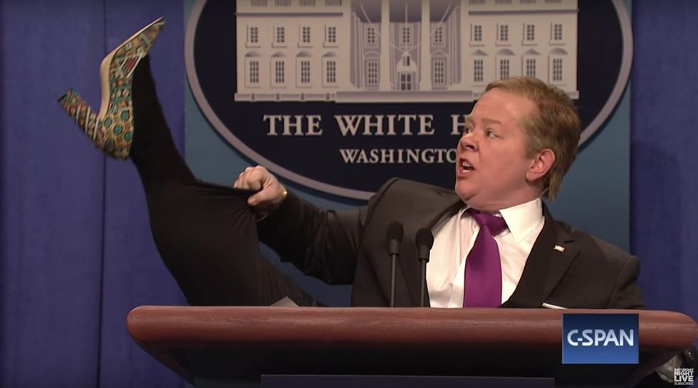 LOL: Melissa McCarthy brought 'Spicey' back to 'SNL' with Kate McKinnon as Jeff Sessions.