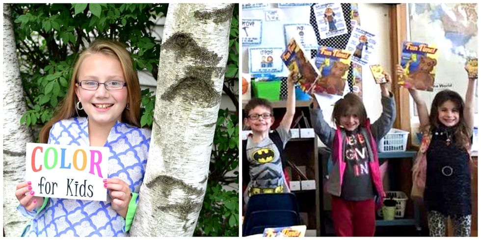 A 10-year-old launched her own charity to bring color to kids across the world.