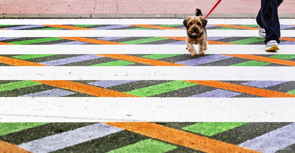 These funky crosswalks in Madrid are delighting pedestrians and keeping kids safe.