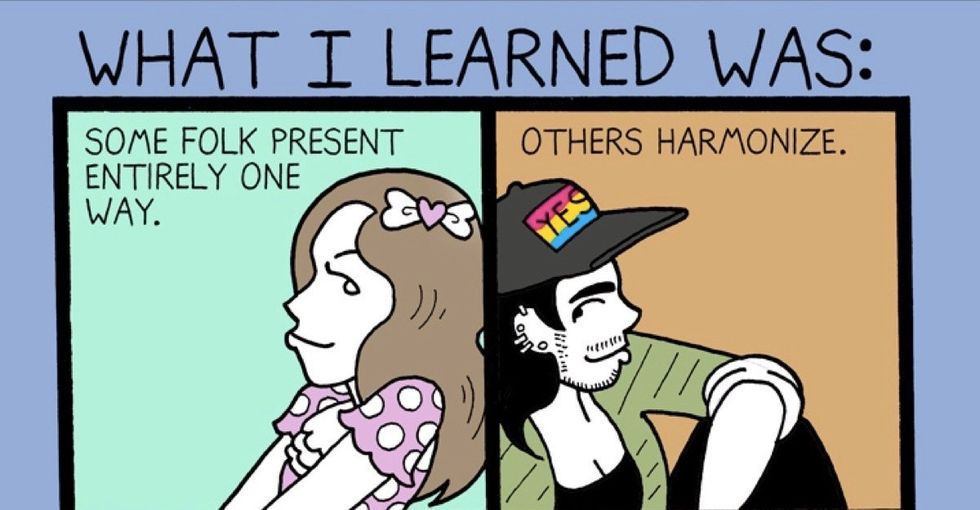 These honest illustrations explain what it's like to come out as genderqueer.