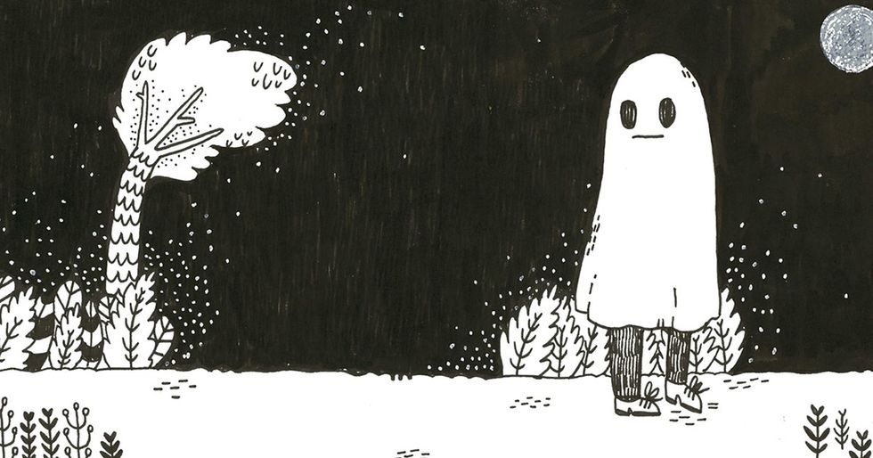 We all feel like a sad ghost sometimes. This comic series captures that perfectly.