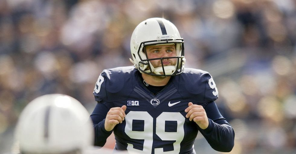 Read a Penn State football player's powerful open letter about his binge-eating.