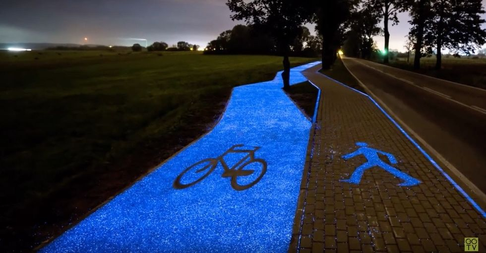 This glow-in-the-dark bike path shows what happens when you let imaginations run wild.