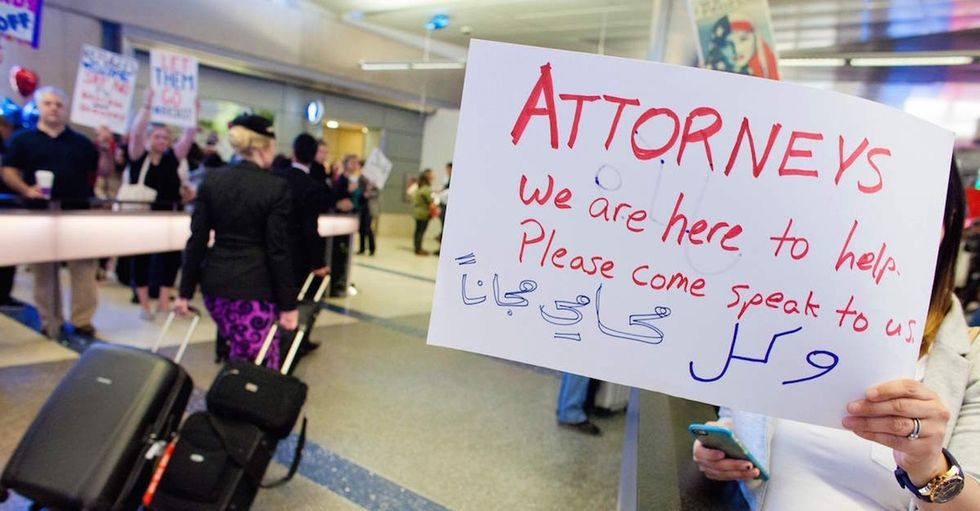With Trump's travel ban still in flux, these lawyers created a brilliant way to help.
