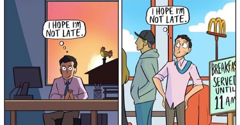 6 too-real comics show what happens when work gets too heavy.