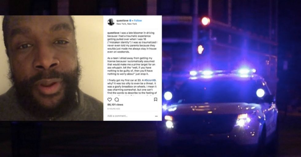 Questlove gets pulled over 6 times a year. Sadly, his experience is not unique.