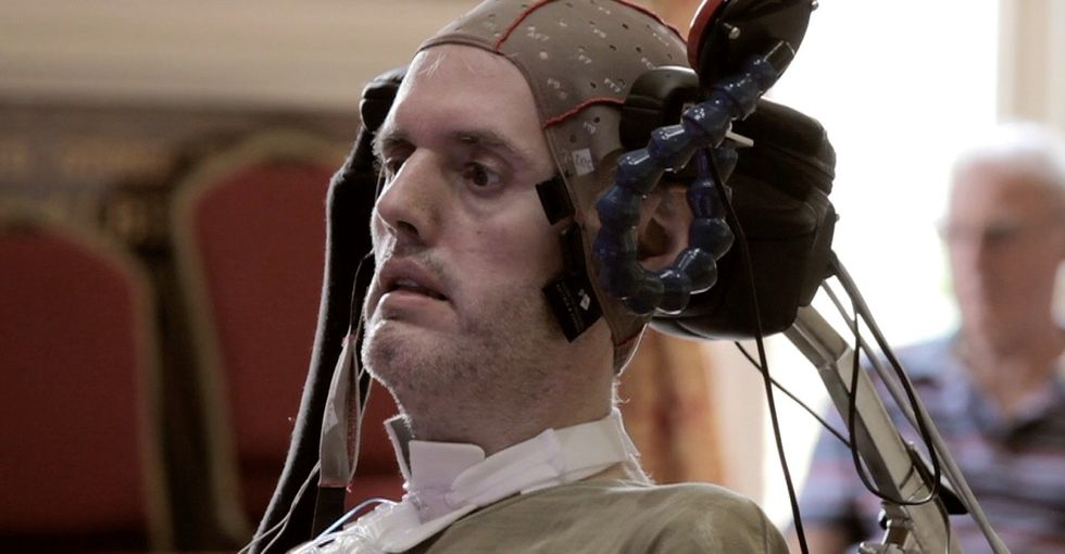 Hear paralyzed musicians deliver a performance with only their brainwaves.