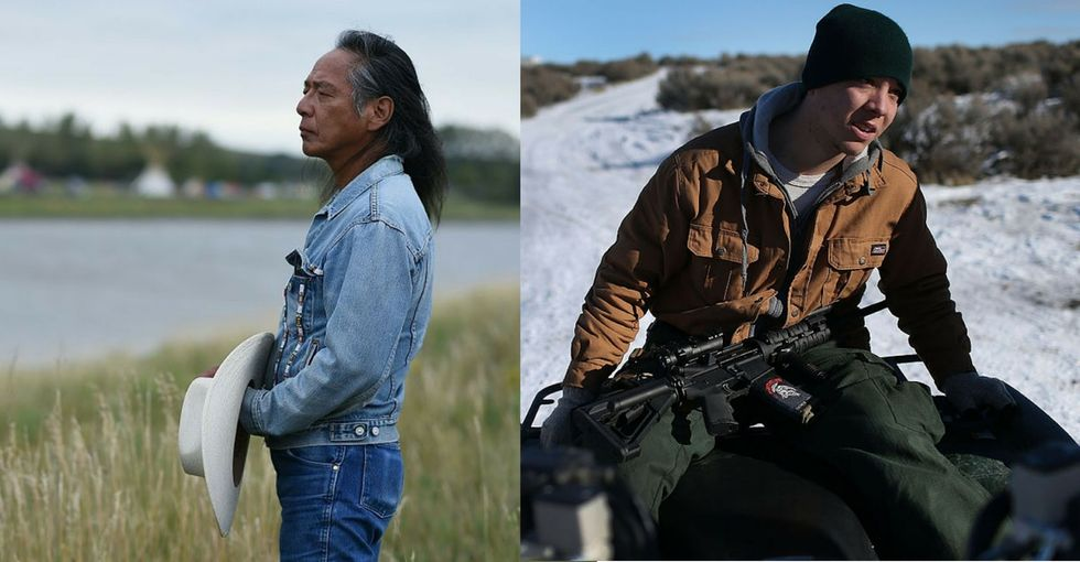 A side-by-side comparison of the Dakota pipeline protest and Oregon militant verdicts.