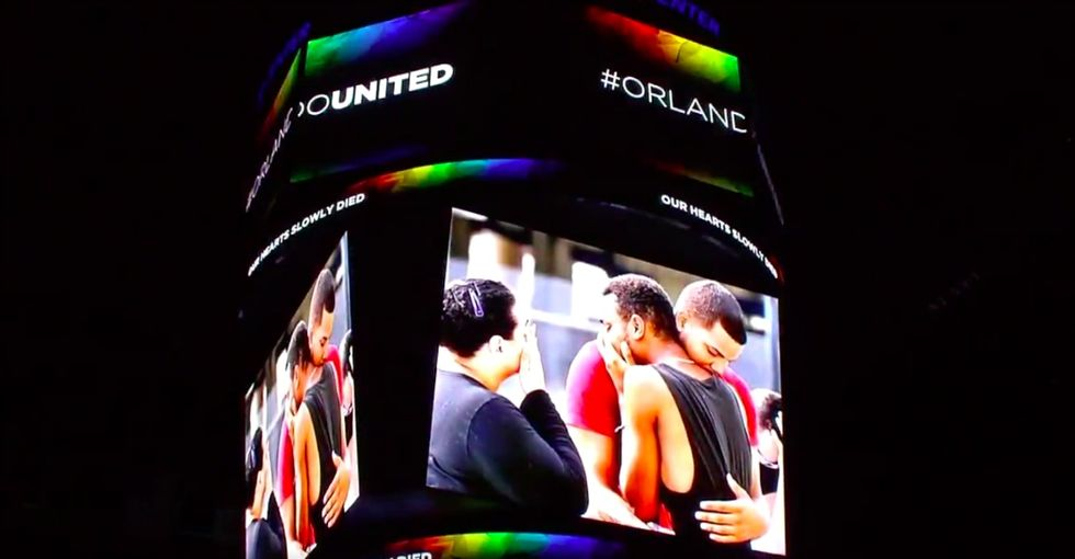 This NBA team stood up to homophobia big time last night with a tribute to Pulse victims.