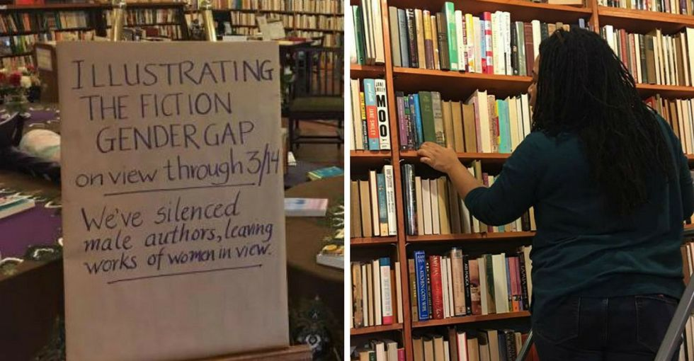 This bookstore found the perfect way to show how sexism affects publishing.