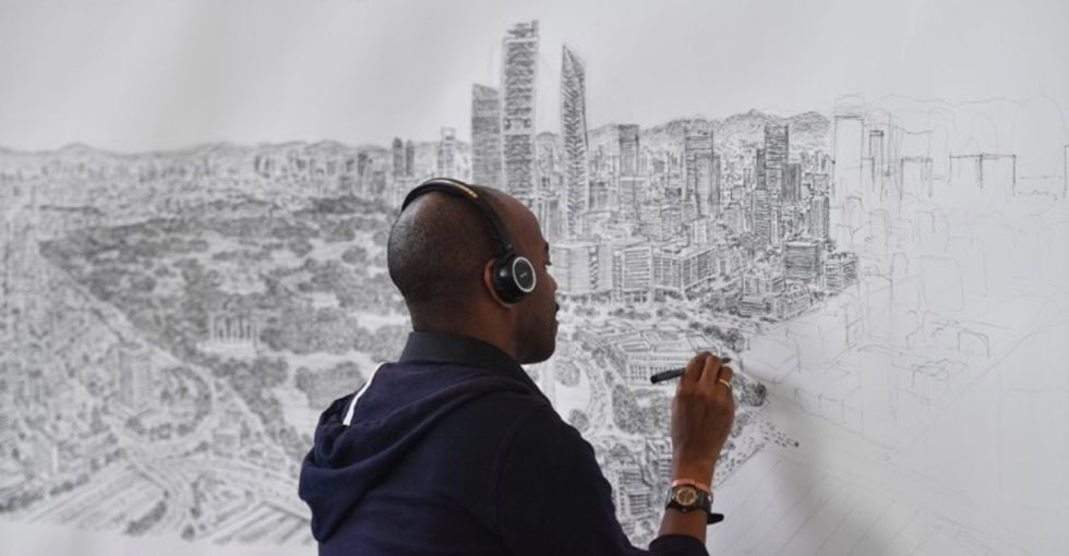 See the jaw-dropping sketches The Human Camera draws from memory.