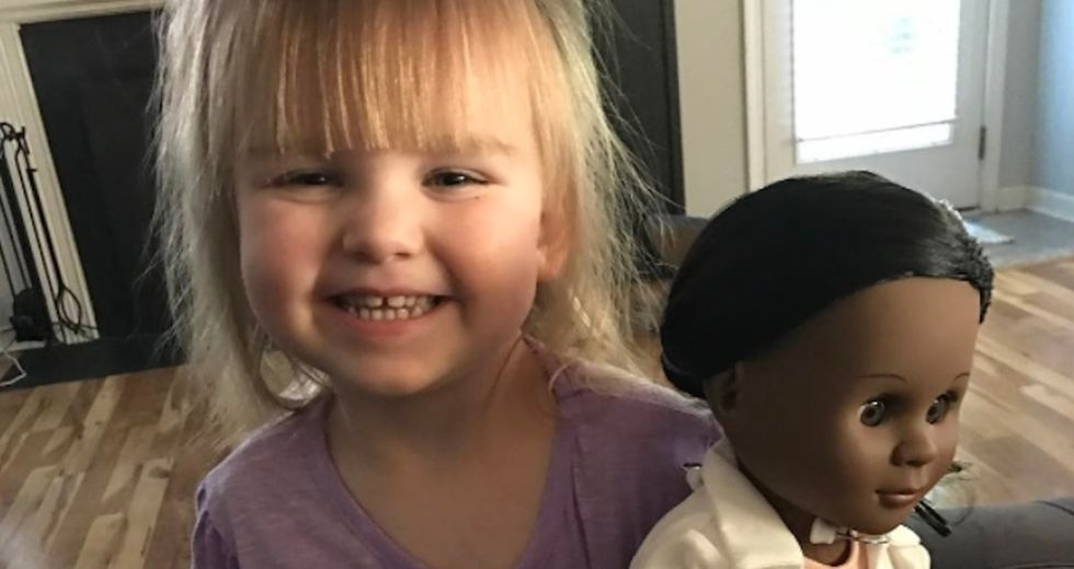 A mom's viral Instagram post about her daughter and a black doll is melting hearts.