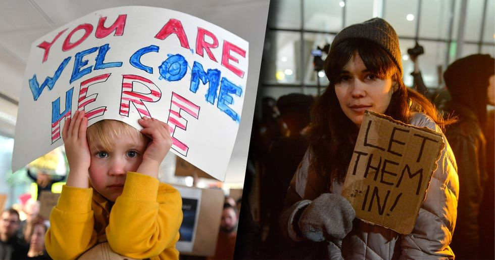 Protesters rushed to the airport this weekend but those at home made a big difference too.