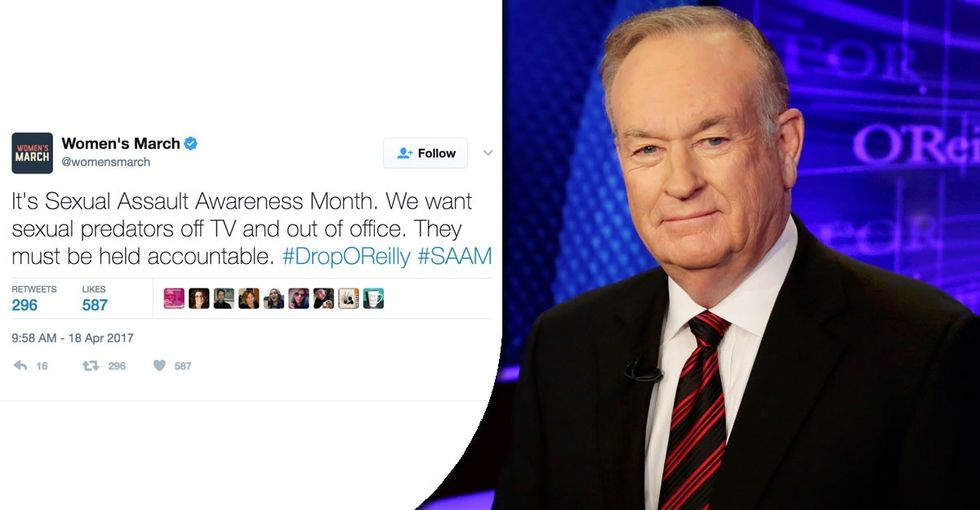 If you want Bill O'Reilly to be fired, you'll love these 14 tweets from today's protest.