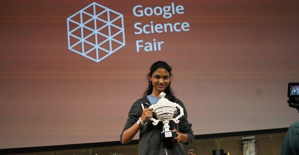 This science fair winner is taking on global drought using oranges and avocados.