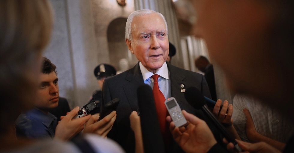 The Senate's longest-serving Republican is standing up for Democrats — for a smart reason.